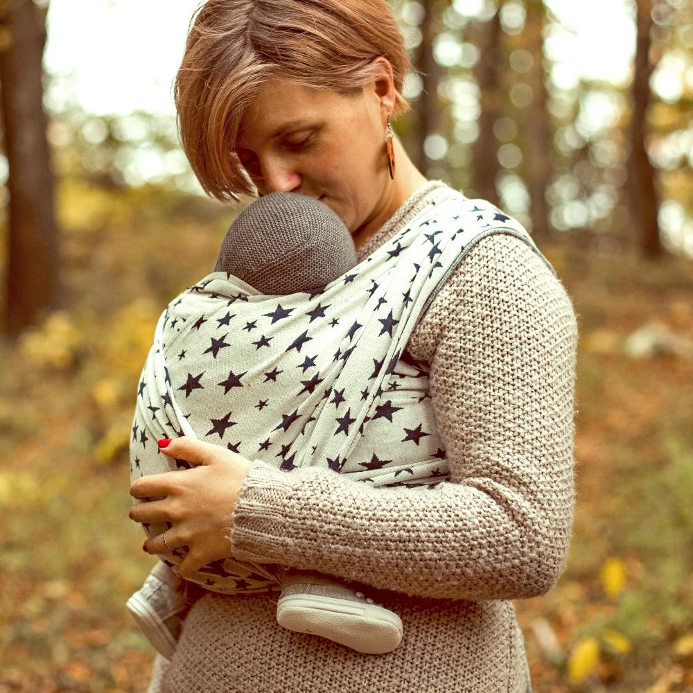 fascia porta bebé elastica didymos doble face stars