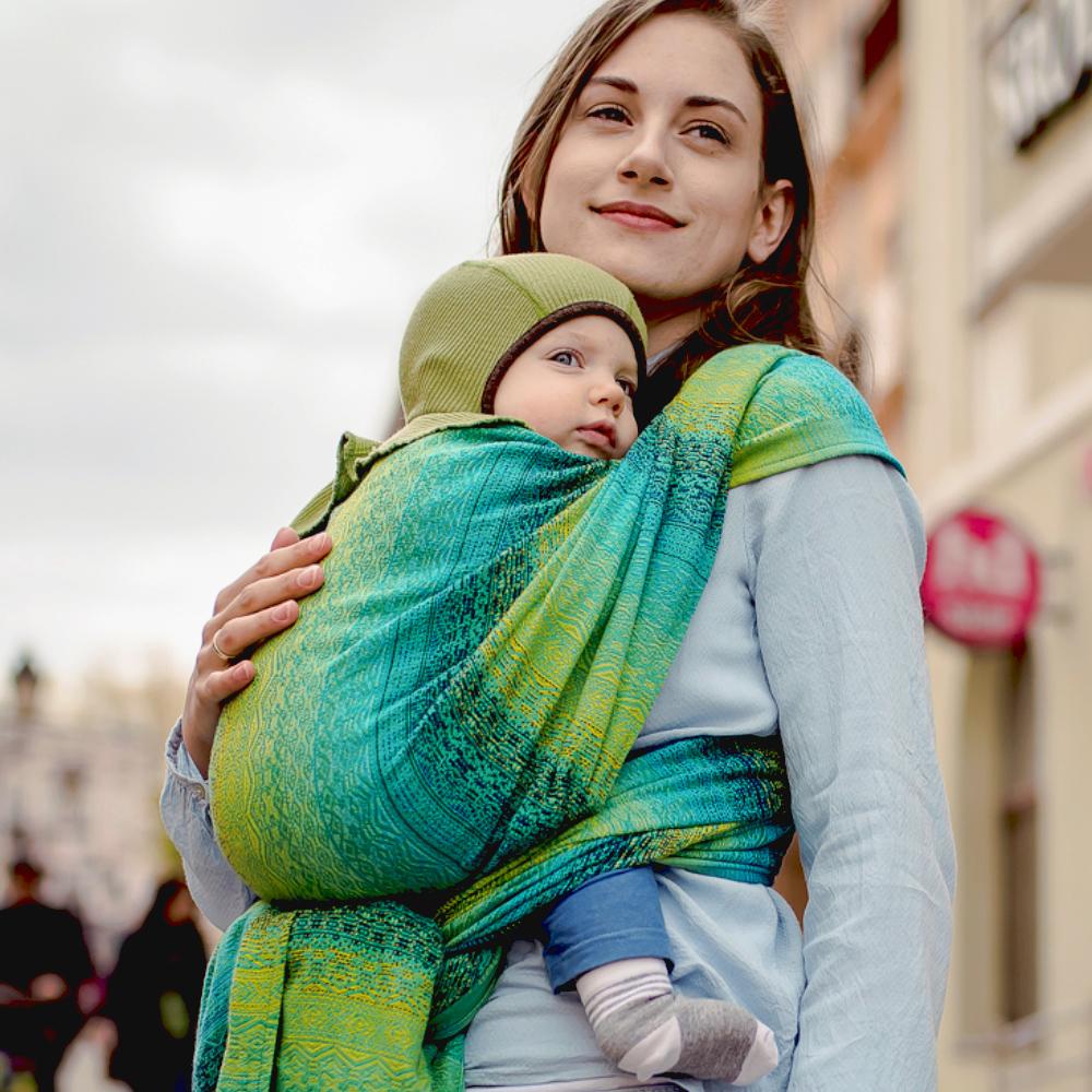 fascia porta bebé rigida didymos prima cotone trama diagonale