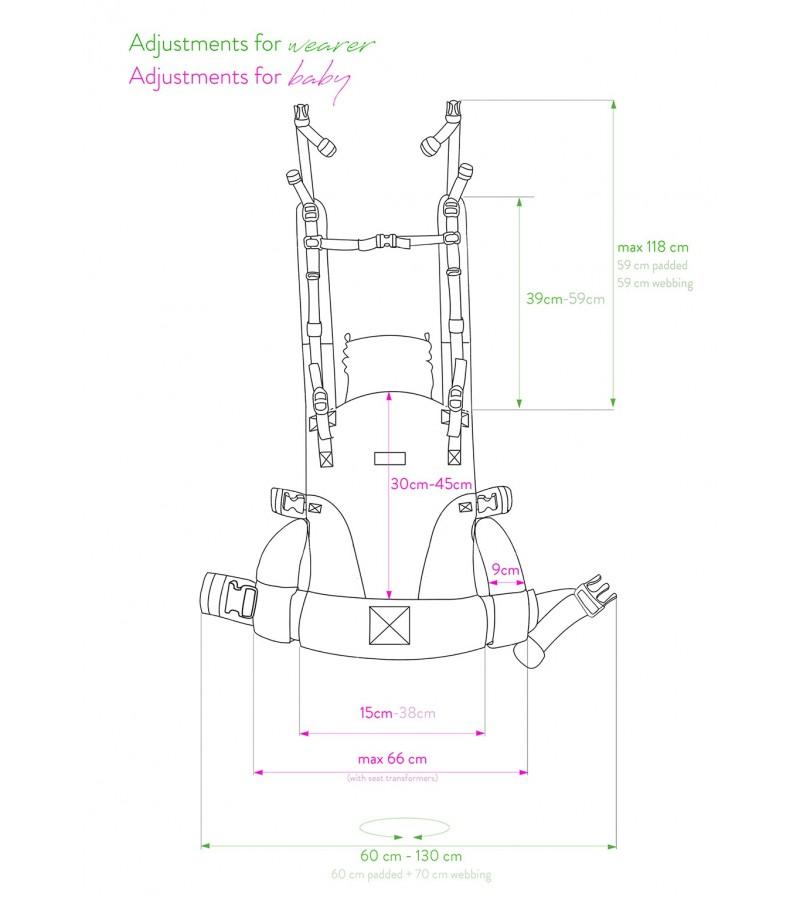 marsupio ergonomico regolazioni